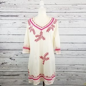 7989649accf Riviera Sun cream pink embroidered swim cover up. NWT